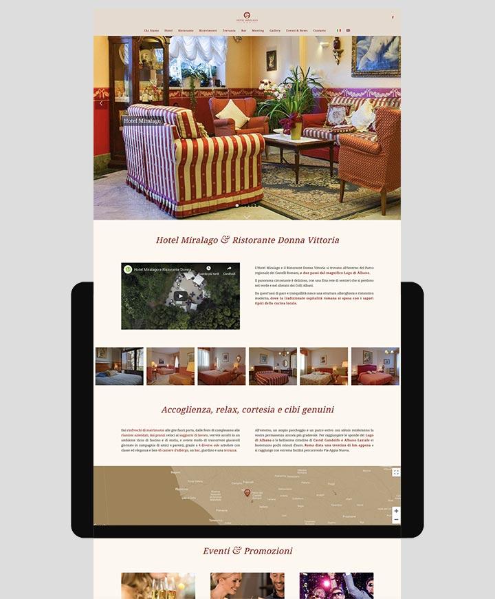 sito web hotel miralago