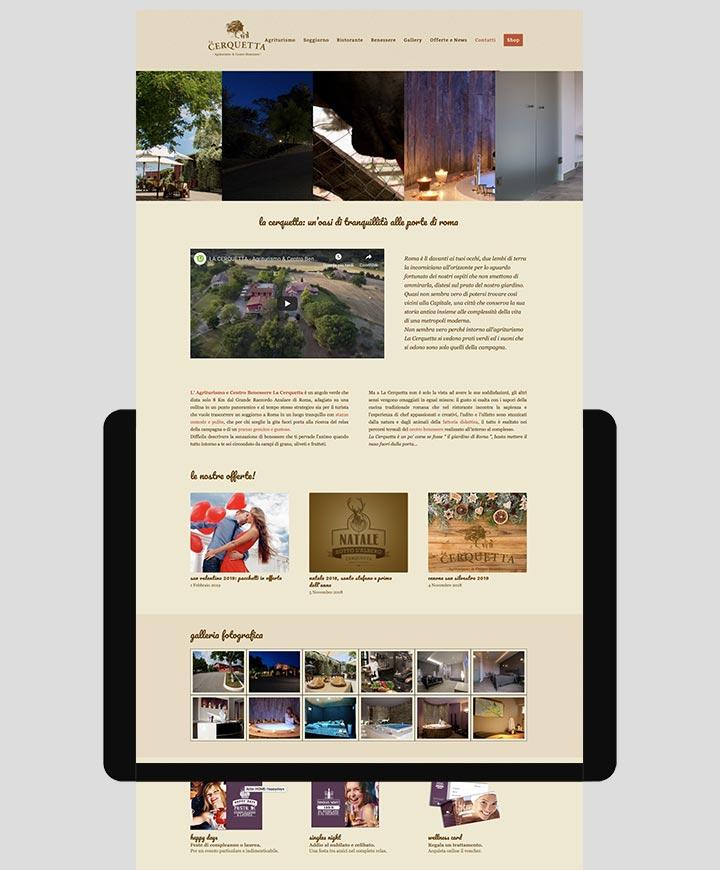 sito web agriturismo la cerquetta