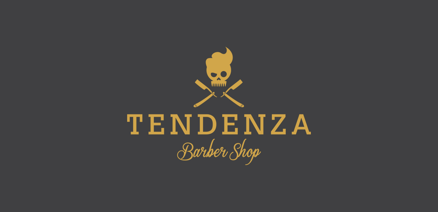 logo tendenza barber shop